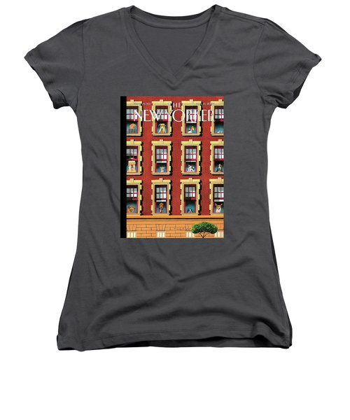 Hot Dogs Women's V-Neck