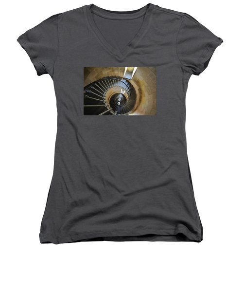 Women's V-Neck T-Shirt (Junior Cut) featuring the photograph 120920p001 by Arterra Picture Library