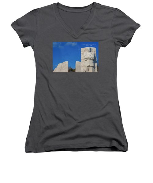 Martin Luther King Jr Memorial Women's V-Neck