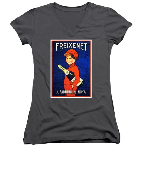 1920 - Freixenet Wines - Advertisement Poster - Color Women's V-Neck (Athletic Fit)