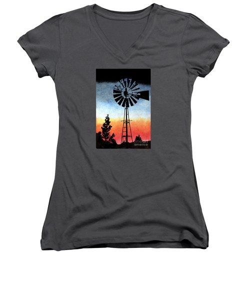 Nostalgia High Tech Women's V-Neck T-Shirt (Junior Cut) by R Kyllo