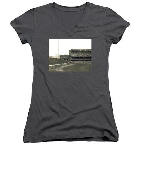 1923 Yankee Stadium Women's V-Neck T-Shirt (Junior Cut) by Underwood Archives