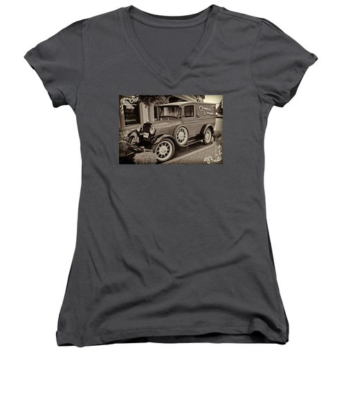 1930 Ford Panel Truck Women's V-Neck