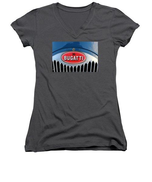 1930's Ettore Bugatti Women's V-Neck T-Shirt