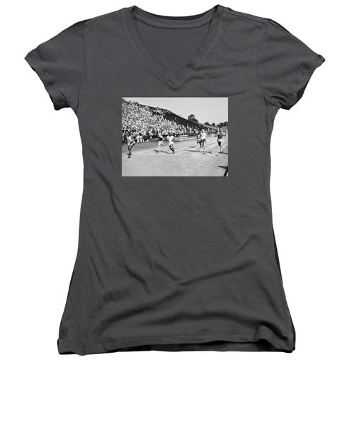 1932 Olympic Track Tryouts Women's V-Neck (Athletic Fit)