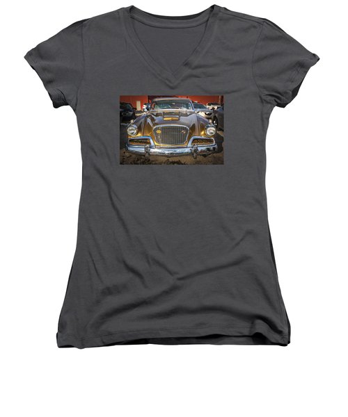 1957 Studebaker Golden Hawk  Women's V-Neck