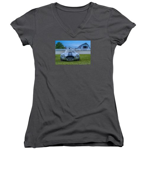 1965 Ford Shelby Cobra American Roadster Women's V-Neck (Athletic Fit)