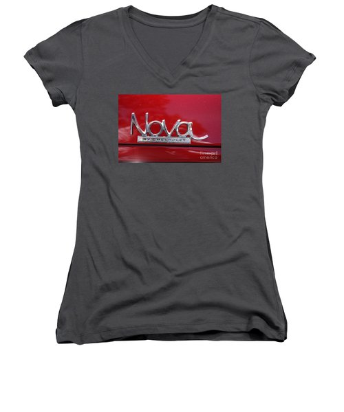 1970 Chevy Nova Logo Women's V-Neck (Athletic Fit)