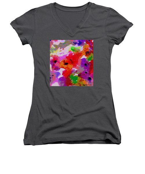 Women's V-Neck T-Shirt (Junior Cut) featuring the painting A Little Watercolor by Jamie Frier