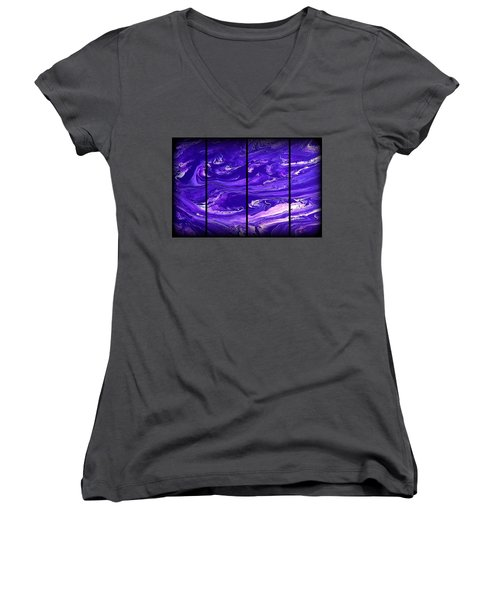 Abstract 60 Women's V-Neck (Athletic Fit)