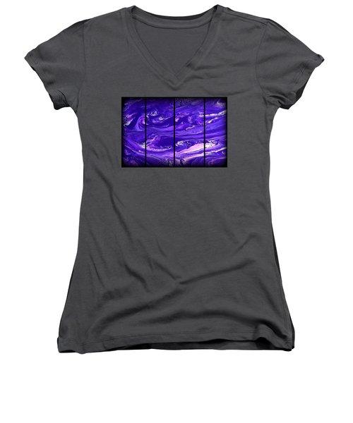 Abstract 60 Women's V-Neck T-Shirt