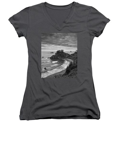 Approaching Storm Women's V-Neck T-Shirt (Junior Cut) by Andrew Soundarajan