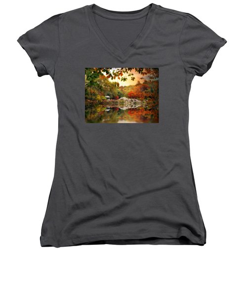 Autumn At Hernshead Women's V-Neck
