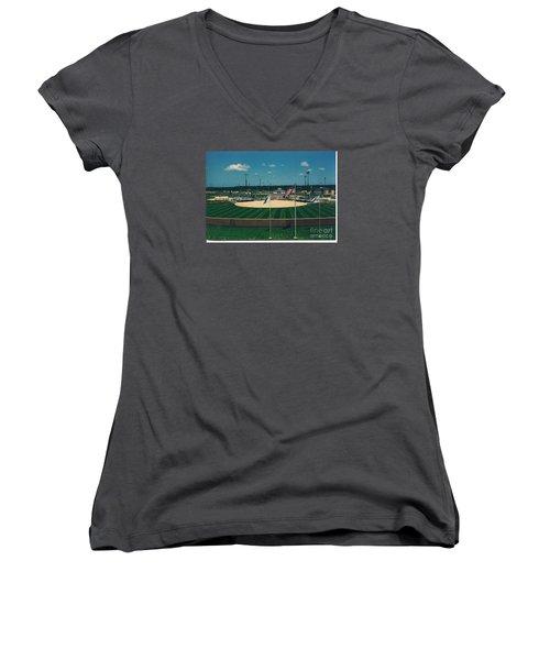 Baseball Diamond Women's V-Neck T-Shirt