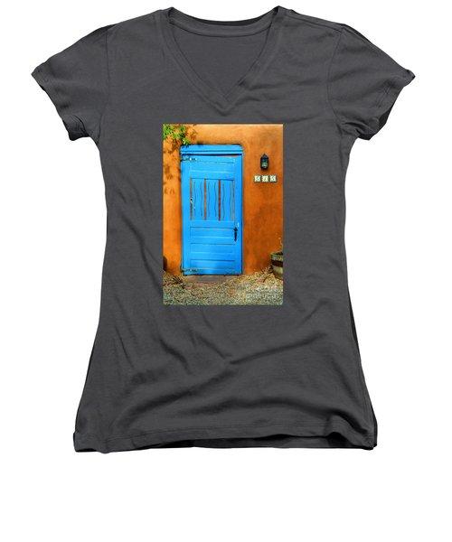 Blue Door In Santa Fe Women's V-Neck T-Shirt