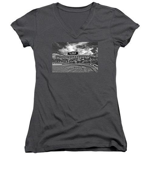Death Valley Women's V-Neck T-Shirt (Junior Cut) by Scott Pellegrin