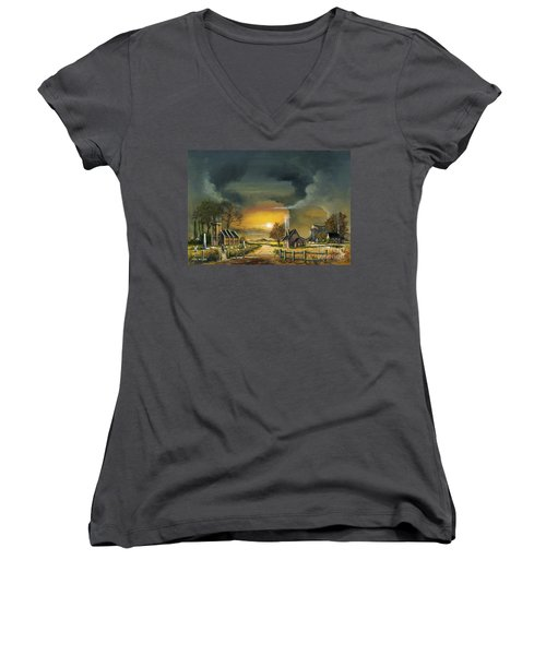 End Of The Day Women's V-Neck