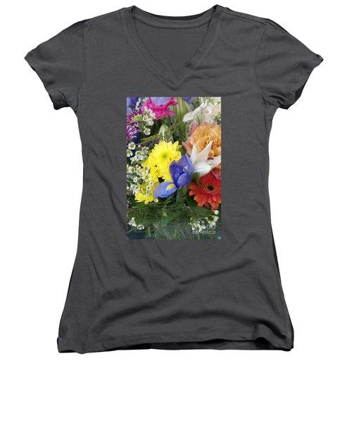 Floral Bouquet 4 Women's V-Neck (Athletic Fit)