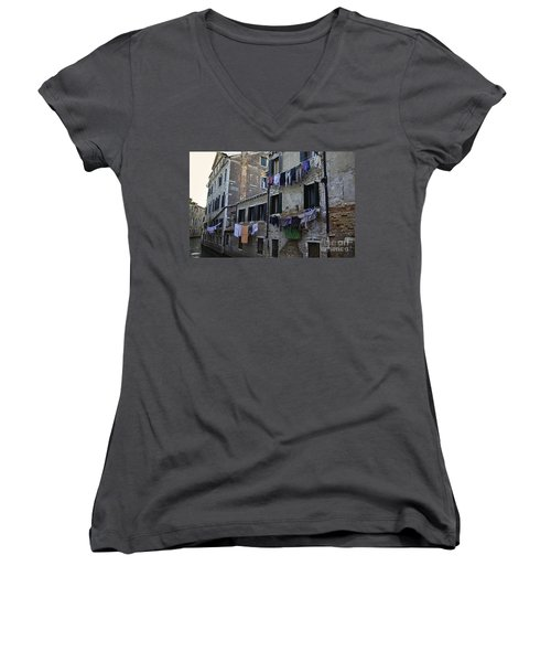 Hanging Out To Dry In Venice Women's V-Neck (Athletic Fit)