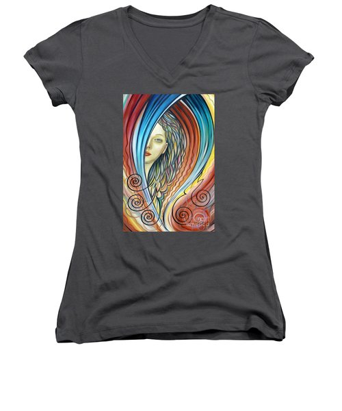 Illusive Water Nymph 240908 Women's V-Neck