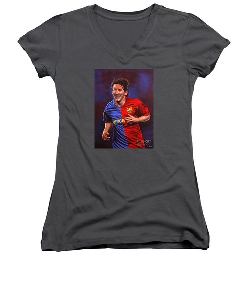 Lionel Messi  Women's V-Neck (Athletic Fit)