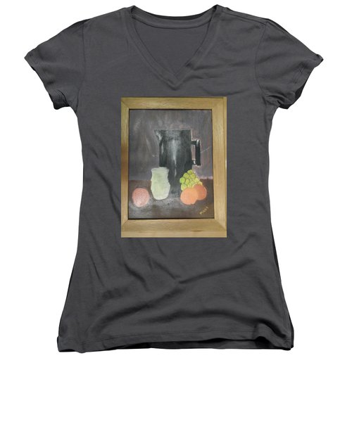 #2 Women's V-Neck T-Shirt