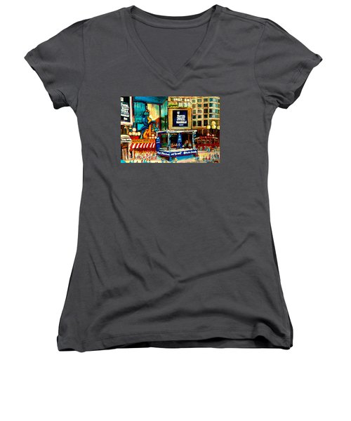 Montreal International Jazz Festival Women's V-Neck