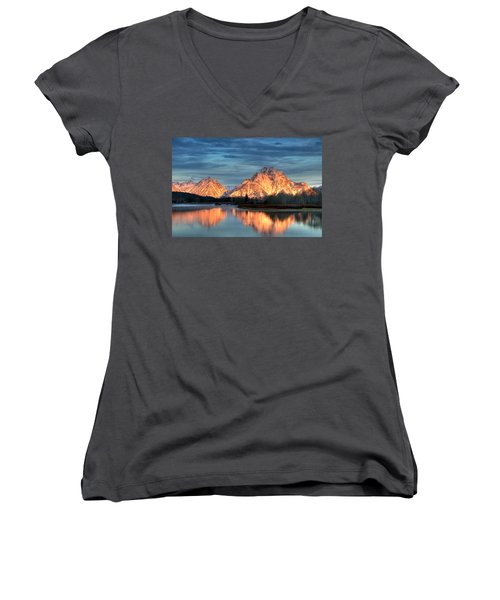 Mount Moran Women's V-Neck T-Shirt