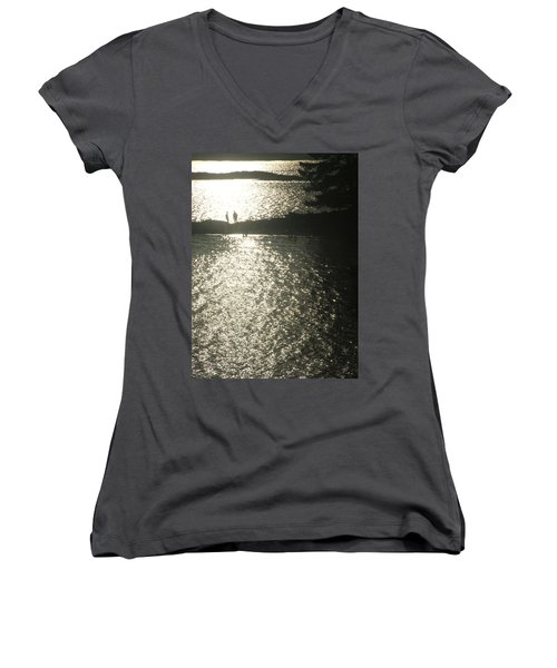 2 At The Beach Women's V-Neck T-Shirt