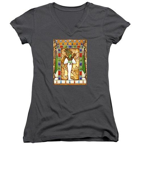 Osiris Women's V-Neck T-Shirt (Junior Cut) by Joseph Sonday
