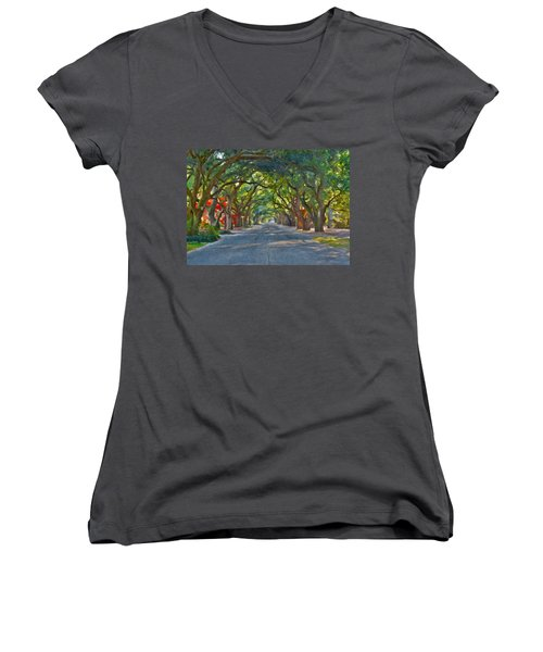 South Boundary Women's V-Neck T-Shirt