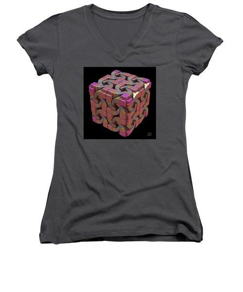 Spiral Box IIi Women's V-Neck T-Shirt
