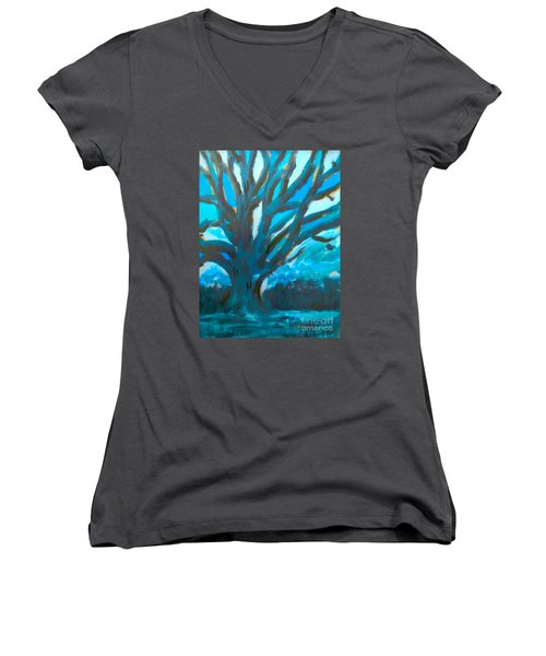 The Blue Tree Women's V-Neck (Athletic Fit)