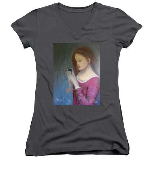 The Chalice Women's V-Neck T-Shirt (Junior Cut)
