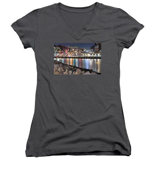 Third Street Bridge Women's V-Neck (Athletic Fit)