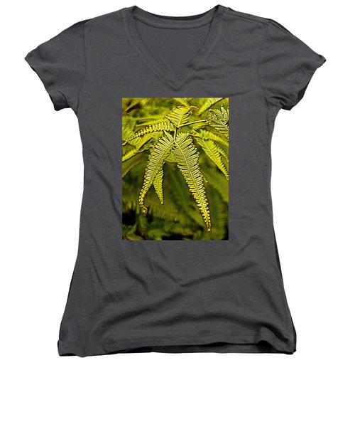 Uluhe Fern Women's V-Neck T-Shirt
