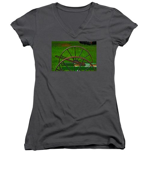Wheels Of Time Women's V-Neck (Athletic Fit)