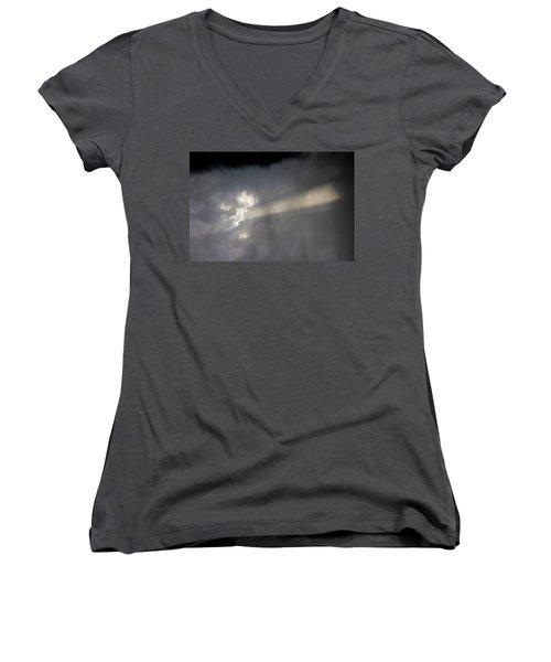 Nebraska Storm Cells A Brewin Women's V-Neck T-Shirt