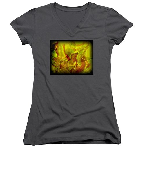 Abstract 27 Women's V-Neck (Athletic Fit)