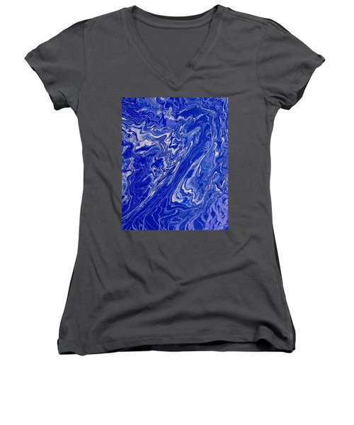 Abstract 33 Women's V-Neck (Athletic Fit)