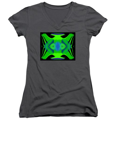 Abstract 46 Women's V-Neck T-Shirt