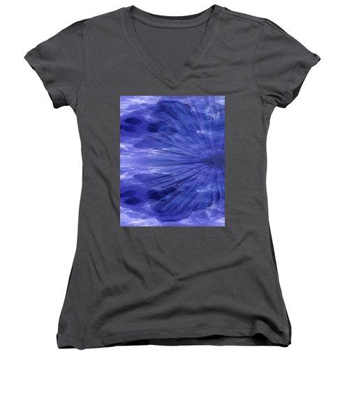 Abstract 58 Women's V-Neck T-Shirt