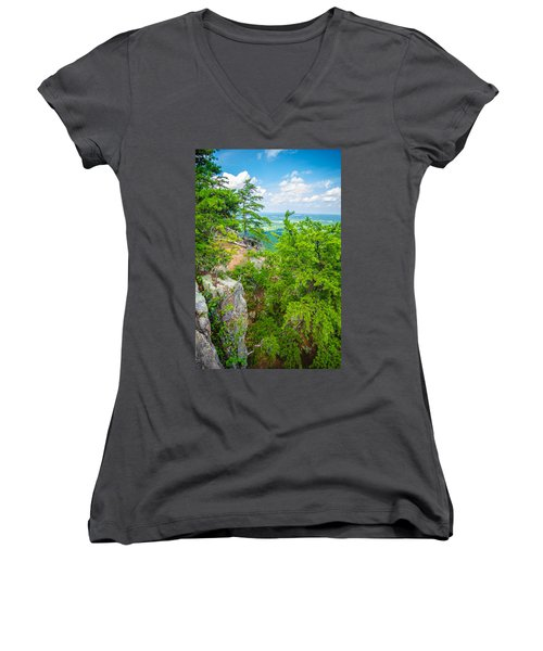 Beautiful Aerial Landscape Views From Crowders Mountain North Ca Women's V-Neck (Athletic Fit)