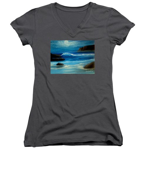Illuminated Women's V-Neck T-Shirt (Junior Cut) by Holly Martinson