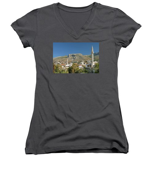 Mostar In Bosnia Herzegovina Women's V-Neck (Athletic Fit)