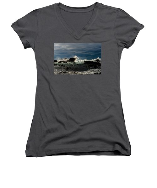 Stormy Seas And Skies  Women's V-Neck (Athletic Fit)