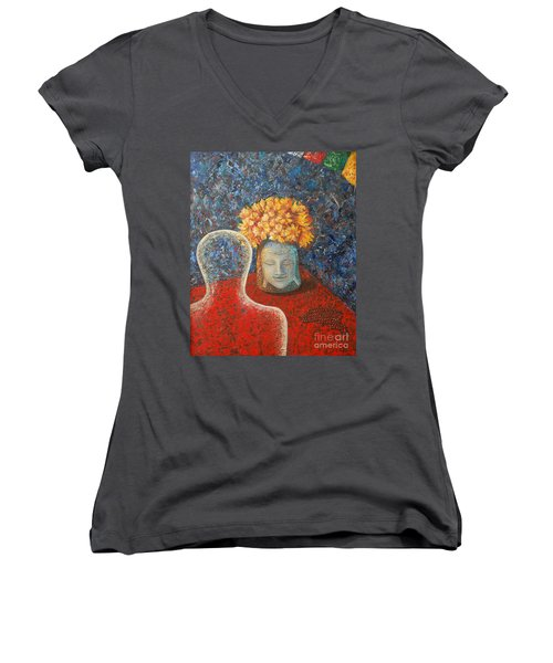 Tibetan Prayers Women's V-Neck (Athletic Fit)