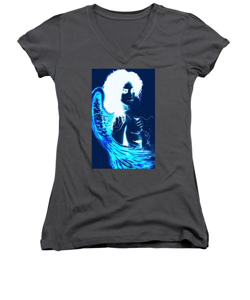 When Heaven And Earth Collide 1 Women's V-Neck (Athletic Fit)