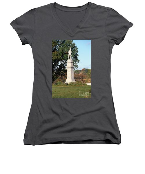 30u13 Hood Park Monument To Civil War Soldiers And Sailors Photo Women's V-Neck