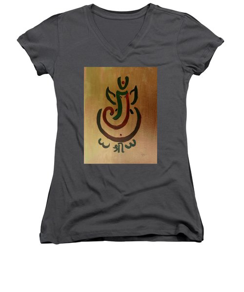 33 Rakta Ganesh Women's V-Neck (Athletic Fit)